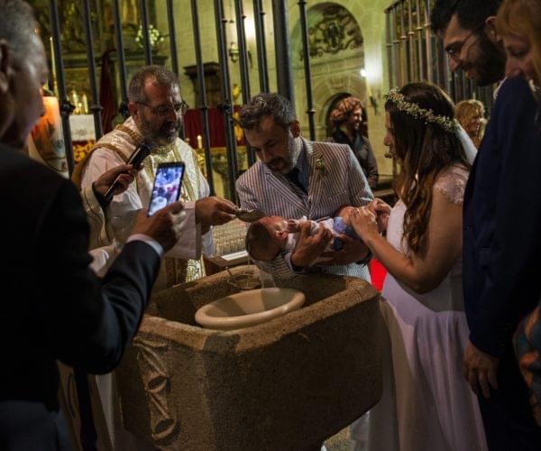 Il battesimo di Corrado Santiago